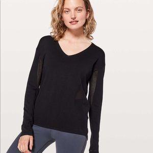 Lululemon Still Movement Black Sweater